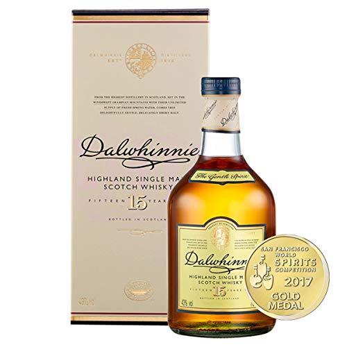 Dalwhinnie Highland Single Malt Scotch Whisky - 15 Jahre gereift - Aromen von Heidekraut und Honig - 1 x 0,7l - 3