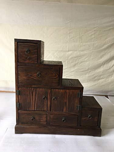 Antik Apothekerschrank Treppenschrank Aktenschrank Büroschrank Apotheke Schrank Sideboard Kommode Kommodenschrank Sideboardschrank mit 5 Schubladen Breite79xHöhe80cm