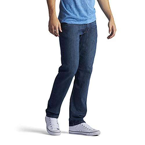 Lee Men's Regular Fit Straight Leg Jean, lenox, 40W x 29L