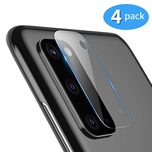 TAMOWA für Kamera Panzerglas Schutzfolie für Samsung Galaxy S20 (4 Stück), Kamera Linse Panzerglasfolie, Transparentes Schutzglas für Samsung Galaxy S20 Kamera, 9H Härte, Anti-Kratzen, Bubble-frei