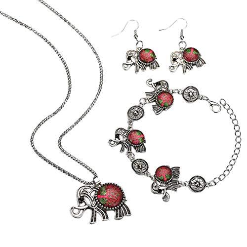 Collar Hombre Collar Pendientes Pulsera Conjunto de Joyas La eternidad Collar Collar Festival Collar único Collar de Lindo Collar de Collar Elefante Red