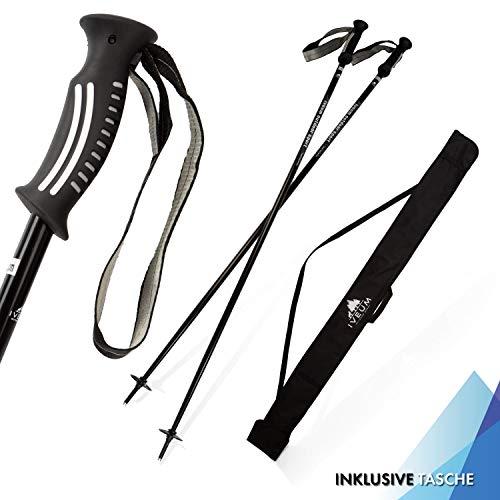 IVEUM Skistöcke inkl. Tasche - Ski Stock für Herren und Damen - Ski Poles leicht und robust - Ski stöcke in verschiedenen Größen - 120cm