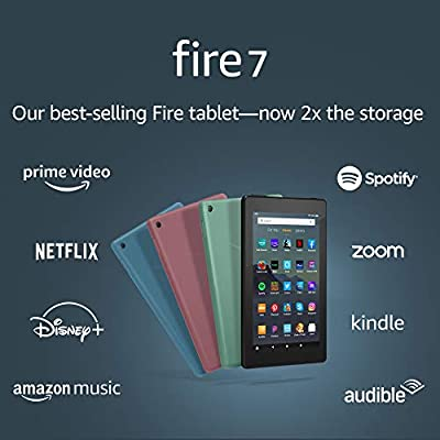 """Certified Refurbished Fire 7 Tablet (7"""" display, 32 GB) - Black from Amazon"""