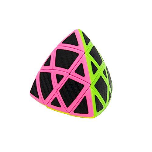 Wings of Wind - Suave 3x3x3 Mastermorphix Cubo mágico, Etiqueta de Fibra de Carbono 3x3 Puzzle Cube