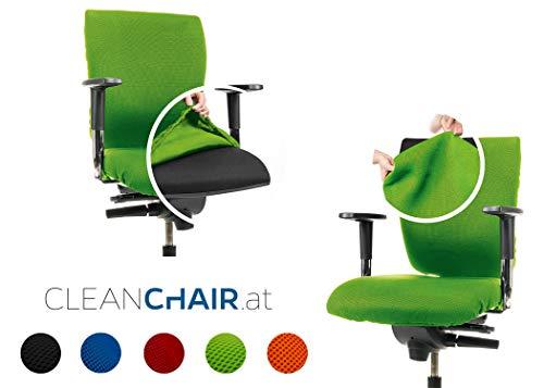 CLEANCHAIR Clean Chair Set: - Silla de Oficina (2 Unidades Set para el Asiento y el Respaldo (Verde, Standard)