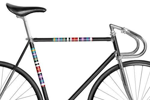 MOOXIBIKE Panel Streifen Mint reflektierend, Rahmenschutzaufkleber für Rennrad, MTB, Trekkingrad, Fixie, Mountainbike, Hollandrad, Citybike, Scooter, Rollator bis circa 15 cm Rahmenumfang