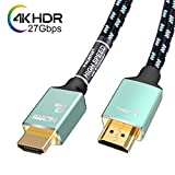 4K HDMI Cable 3ft -HDMI 2.0 Cord Supports 1080p, 3D, 2160p, 4K UHD, HDR -CL3 for in-Wall installation-28AWG Silver Plated Copper for HDTV, Xbox, Blue-ray Player, PS3, PS4, PC