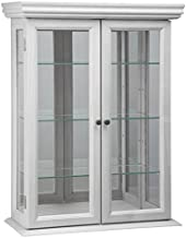 Design Toscano Country Tuscan Wall Curio Cabinet, Lily White