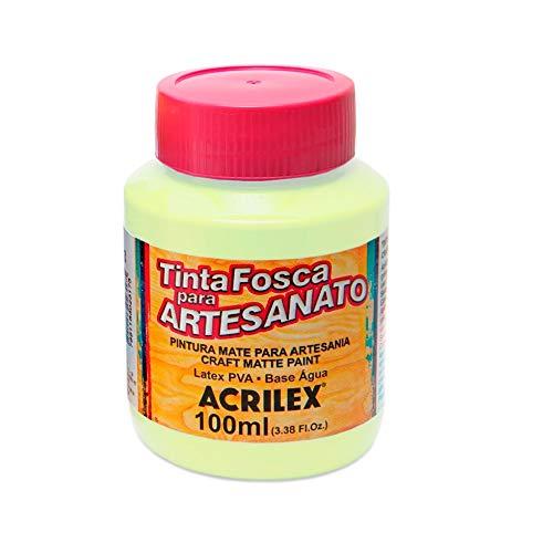 ACRILEX Tinta FOSCA para ARTESANATO 100 ML (898 Verde ALECRIM)