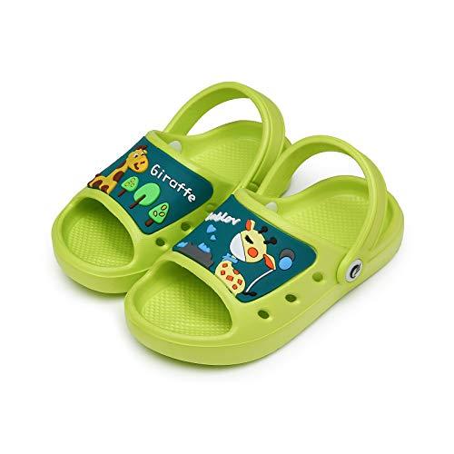 CELANDA Ciabatte da Spiaggia per Ragazzi e Ragazze Antiscivolo Pantofole da Bagno Bambini Morbidi Scarpe da Piscina Interno Esterno Estive Sandali Green-B 22/23EU