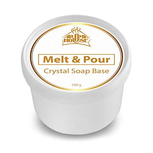 Glycerinseife Seifenbasis Crystal ST 500g - Melt & Pour Seifenbase - Rohseife - Transparent - nicht parfümiert - Kreativ- Seife - Handgemacht - Schönes Geschenk