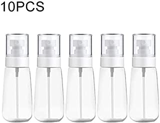 JINTONGJU 10 PCS Portable Refillable Plastic Fine Mist Perfume Spray Bottle Transparent Empty Spray Sprayer Bottle, 60ml(Pink) Cosmetics (Color : Transparent)