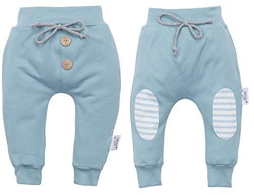 Makoma 100% Baumwolle Baby Kinder Hose 2er Set Pumphose Lang Jogginghose Sweathose Sweet Dreams (68)