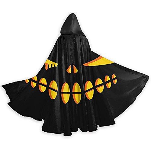 Zome Lag Unisex Halloween Mantel, Volwassene Hooded Mantel, Halloween Kerst Cosplay Kostuums, Party Cape, Halloween Verlichte Pompoen Gezicht Duivel Heks Wizard Cape, Mantel Van Warlock