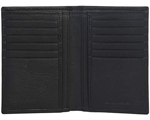 Eono by Amazon Geldbörse aus Leder für Damen und Herren – Flaches Design mit RFID Ausleseschutz-Funktion (Rindnappaleder schwarz)
