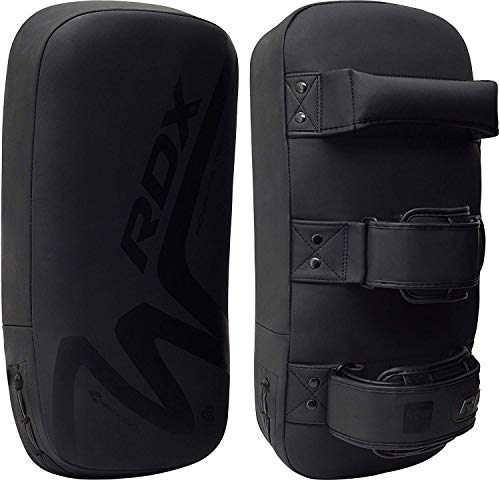 RDX MMA Thai Pad for Training, Convex Skin Leather Curved Kickboxing Strike...