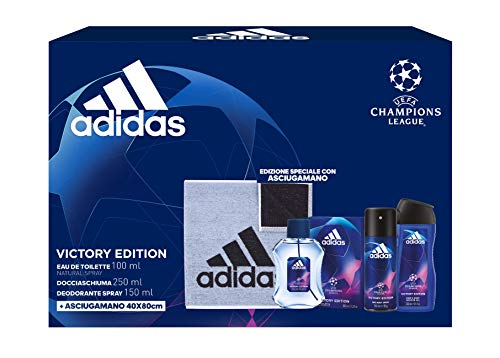Adidas Confezione Regalo Uomo UEFA Champions League Victory Edition, 500 ml