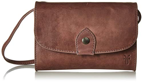 FRYE Melissa Wallet Crossbody Clutch Leather Bag, lilac