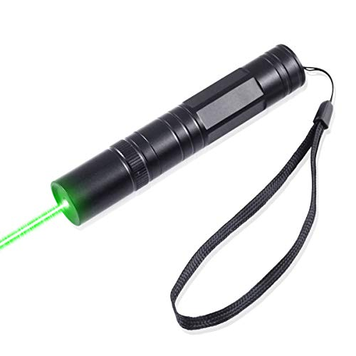 FreeMascot Multi Function Green Flashlight for Camping Hiking Astronomy Hunting Field Survival Black