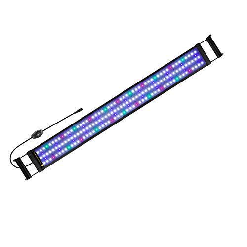 FTALGS Luz LED Acuario, lampara Acuario,Pantalla LED Acuario, Iluminación LED para Acuarios Plantados Lámpara LED (90-110CM)