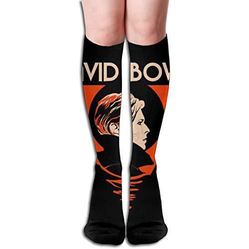 David Bowie - Calcetines de muslo altos para niñas y mujeres