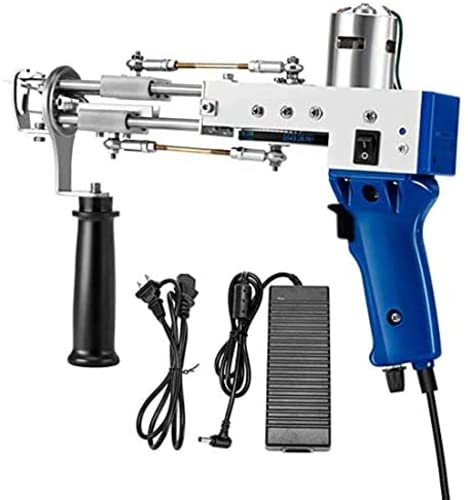 Trieksull Pistola para Tejer alfombras, máquina eléctrica para Tejer alfombras, máquina portátil para Tejer alfombras 100V-240V 7-19mm (Blue)