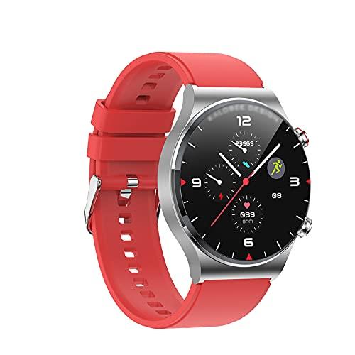QASD SmartWatch, 1,3 Pulgadas Pantalla Grande Pantalla Bluetooth Call Bluetooth Tasa de corazón Presión Arterial Multi-Sports Impermeable Reloj Inteligente LP68 Diseño im Red