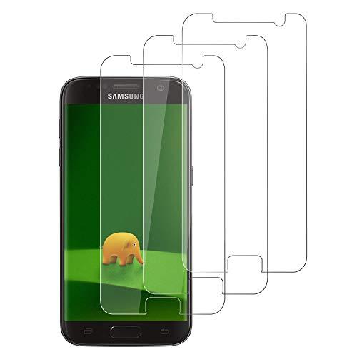 DASFOND 3 Piezas Protector Pantalla Samsung Galaxy S7 Cristal Templado [9H Dureza,Sin Burbujas, Alta sensibilidad,Alta Definicion, Fácil instalación] Premium Cristal Vidrio Templado para Galaxy S7