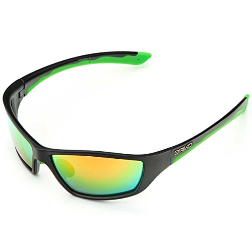 Briko Action Eyewear Herren Einheitsgröße 996 matt BLCK green -GM3