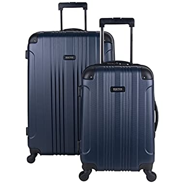 Kenneth Cole Reaction Out of Bounds Abs 4-Wheel Luggage 2-Piece Set 20  and 28  Sizes, Navy