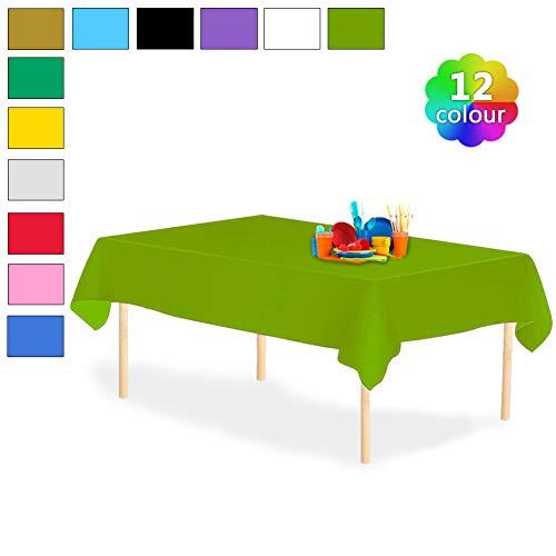 YANGTE Einweg Tischdecke aus Kunststoff 4 Stück,Grün Plastik Tischtuch Rechteck 137x274cm für Tische im Indoor und Outdoor Partys, Garten, Geburtstage, Hochzeiten, Weihnachten