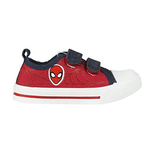 Cerdá Zapatillas Spiderman Niño con Cierre de Velcro de Color Rojo, Niños, 29 EU