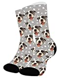 Zhovee Calcetines personalizados, perro, gato, cara de mascotas Calcetines con imagen para amantes de las mascotas, cara personalizada de calcetines