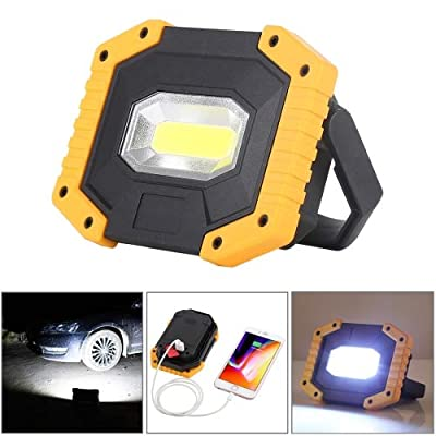 KOKOIN COB 30W 1500LM LED Work Light, Super Bright Rechargeable Portable Waterproof LED Flood Lights Outdoor Camping Emergency Car Repairing Job Site Lighting