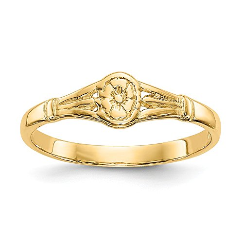 14k Yellow Gold Oval Baby Band Ring Size 2.25 Fine Jewelry For Women Gifts For Her