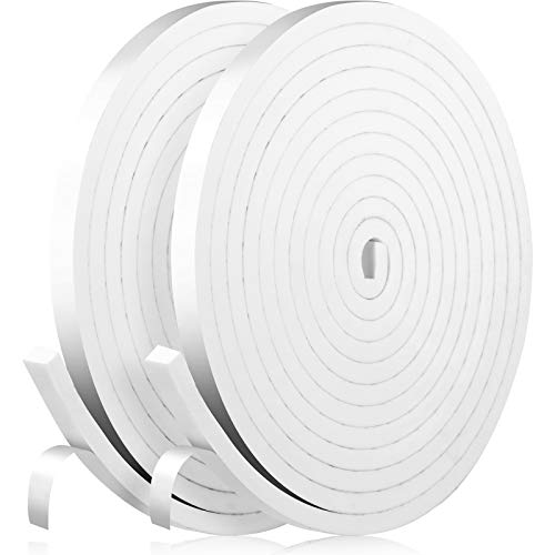 33 Feet Foam Sealing Tape 1/2 Inch x 3/8 Inch Thick Door Weather Stripping,...