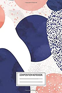 Notebook: Terrazzo Galaxy Pink Blue White , Journal for Writing, Size 6