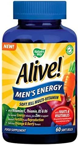 Nature's Way Alive Safety and trust Men's Energy - Jells 6 Credence Soft Pack 60