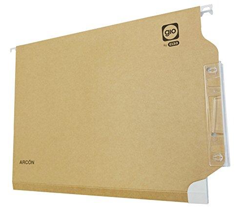 Elba Gio 400021926 - Caja de 25 carpetas colgantes para armario, A4