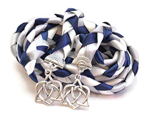 Divinity Braid Navy Silver Celtic Heart Knot Wedding Handfasting Cord V4#Handfasting #Celtic #CelticHandfasting #Wedding #WeddingHandfasting