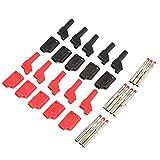 conectores apilables Enchufes de plátano, de 4 mm de aislamiento eléctrico Testing Plug Rojo Negro 10PCS, conector industrial,