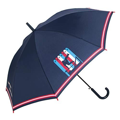 GOTTA Paraguas Infantil niño/niña 8-11 años|Automático|Paraguas Azul con Dibujo|Banda Reflectante (Rojo 20)