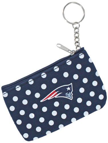 aminco NFL New England Patriots Polka Dots Coin/ID Purse, black (NFL-WA-247-10)
