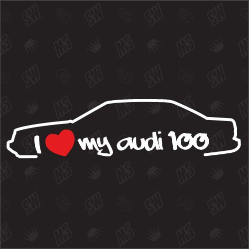 speedwerk-motorwear I Love My 100 Limo - Sticker Bj.82-94, kompatibel mit Audi
