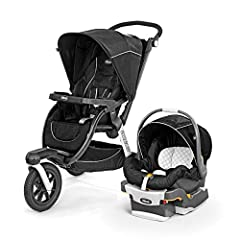Includes #1-rated key Fit 30 Infant Car seat Multi-position reclining seat and detachable padded arm bar, with full-coverage, extendable canopy with tinted peek-a-boo window Hand-operated parking brake keeps foot area clear and unobstructed and adjus...