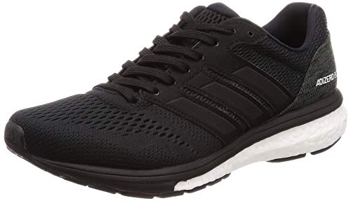 adidas Women's Adizero Boston 7 W Fitness Shoes, Black (Negbás/Ftwbla/Carbon 000), 5 UK
