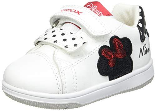 Geox B New Flick Girl A, Zapatillas Bebé-Niñas, White/Black, 23 EU