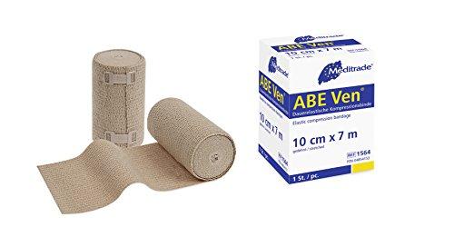 Meditrade 1564 Abe-Ven duurzame elastische band voor sterke compressie, 7 m lang x 10 cm breed, huidskleuren