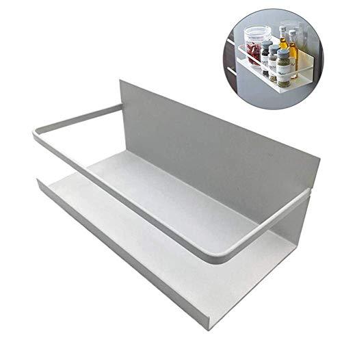 Kruidenrek, magneet koelkastrek, keuken opbergen, kruidenrek, organizer, klassiek opbergen, ideaal voor keuken, koelkast, werkbanken (zwart, wit) 25 x 9,5 x 12 cm wit