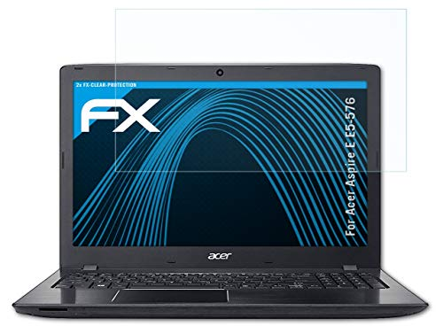 atFolix Schutzfolie kompatibel mit Acer Aspire E E5-576 Folie, ultraklare FX Bildschirmschutzfolie (2X)